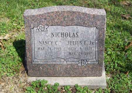 NICHOLAS, JULIUS E. JR. - Benton County, Arkansas   JULIUS E. JR. NICHOLAS - Arkansas Gravestone Photos