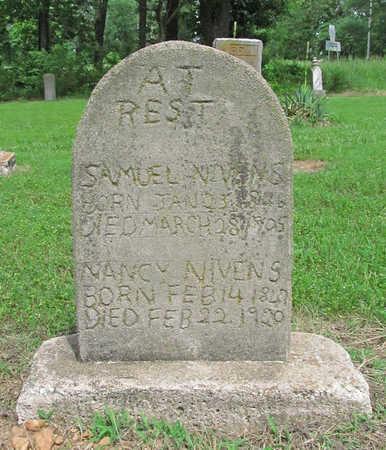 NIVENS, SAMUEL - Benton County, Arkansas   SAMUEL NIVENS - Arkansas Gravestone Photos