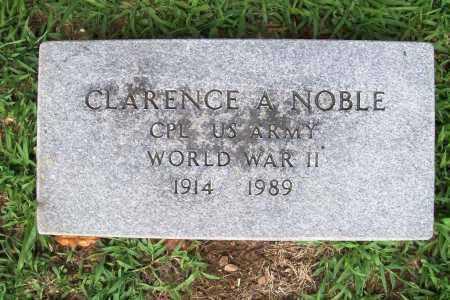 NOBLE (VETERAN WWII), CLARENCE A. - Benton County, Arkansas | CLARENCE A. NOBLE (VETERAN WWII) - Arkansas Gravestone Photos