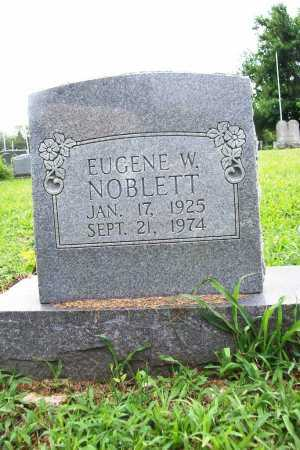 NOBLETT, EUGENE W. - Benton County, Arkansas   EUGENE W. NOBLETT - Arkansas Gravestone Photos
