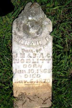 NOBLITT, SARAH E. - Benton County, Arkansas   SARAH E. NOBLITT - Arkansas Gravestone Photos