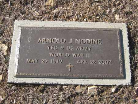 NODINE (VETERAN WWII), ARNOLD J - Benton County, Arkansas   ARNOLD J NODINE (VETERAN WWII) - Arkansas Gravestone Photos