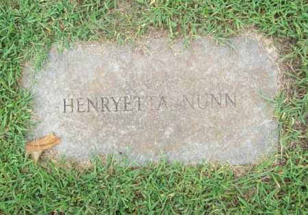 NUNN, HENRYETTA - Benton County, Arkansas | HENRYETTA NUNN - Arkansas Gravestone Photos