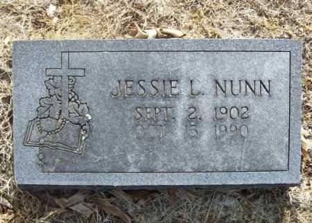 NUNN, JESSIE L. - Benton County, Arkansas   JESSIE L. NUNN - Arkansas Gravestone Photos