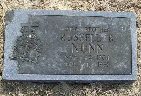 NUNN, RUSSELL B. - Benton County, Arkansas   RUSSELL B. NUNN - Arkansas Gravestone Photos