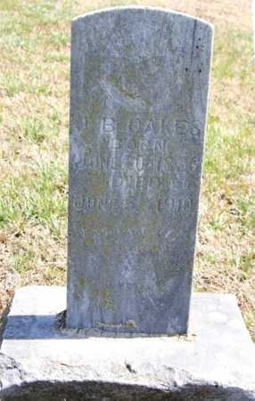 OAKES, J. B. - Benton County, Arkansas | J. B. OAKES - Arkansas Gravestone Photos
