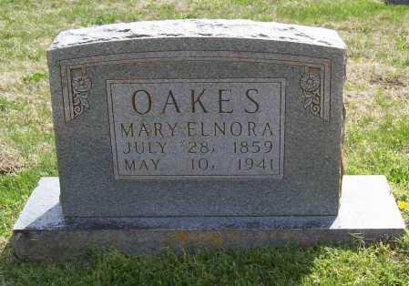 CASTOR OAKES, MARY ELNORA - Benton County, Arkansas   MARY ELNORA CASTOR OAKES - Arkansas Gravestone Photos