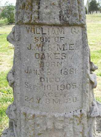 OAKES, WILLIAM G. (CLOSEUP) - Benton County, Arkansas | WILLIAM G. (CLOSEUP) OAKES - Arkansas Gravestone Photos
