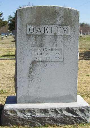 OAKLEY, EDGAR R. - Benton County, Arkansas   EDGAR R. OAKLEY - Arkansas Gravestone Photos