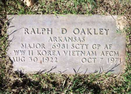 OAKLEY (VETERAN 3 WARS), RALPH D - Benton County, Arkansas | RALPH D OAKLEY (VETERAN 3 WARS) - Arkansas Gravestone Photos