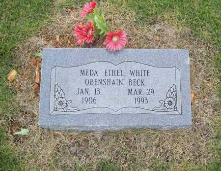 WHITE BECK, MEDA ETHEL - Benton County, Arkansas | MEDA ETHEL WHITE BECK - Arkansas Gravestone Photos