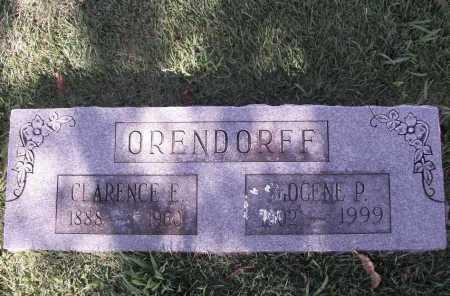 ORENDORFF, CLARENCE E. - Benton County, Arkansas | CLARENCE E. ORENDORFF - Arkansas Gravestone Photos
