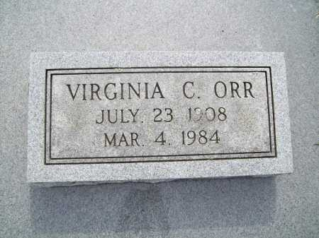 ORR, VIRGINIA C. - Benton County, Arkansas   VIRGINIA C. ORR - Arkansas Gravestone Photos