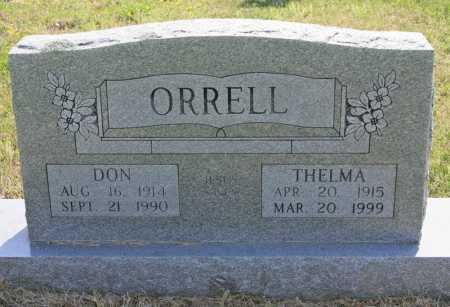 ORRELL, DON - Benton County, Arkansas | DON ORRELL - Arkansas Gravestone Photos