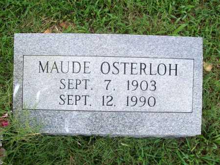 OSTERLOH, MAUDE - Benton County, Arkansas | MAUDE OSTERLOH - Arkansas Gravestone Photos