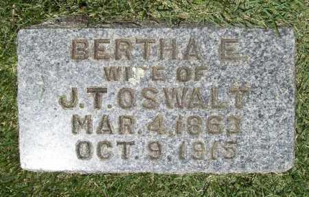 OSWALT, BERTHA E. - Benton County, Arkansas | BERTHA E. OSWALT - Arkansas Gravestone Photos