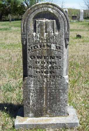 OWENS, JOHN B. - Benton County, Arkansas | JOHN B. OWENS - Arkansas Gravestone Photos