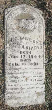 OWENS, M.C. - Benton County, Arkansas   M.C. OWENS - Arkansas Gravestone Photos