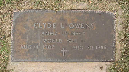 OWENS (VETERAN WWII), CLYDE L - Benton County, Arkansas   CLYDE L OWENS (VETERAN WWII) - Arkansas Gravestone Photos