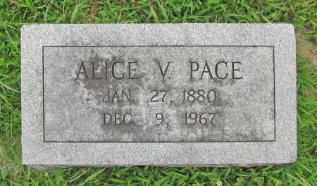 PACE, ALICE V. - Benton County, Arkansas   ALICE V. PACE - Arkansas Gravestone Photos