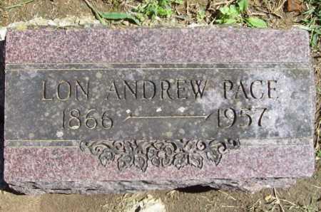 PACE, LON ANDREW - Benton County, Arkansas   LON ANDREW PACE - Arkansas Gravestone Photos