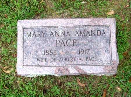 PACE, MARY ANNA AMANDA - Benton County, Arkansas | MARY ANNA AMANDA PACE - Arkansas Gravestone Photos
