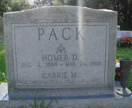 PACK, HOMER D. - Benton County, Arkansas | HOMER D. PACK - Arkansas Gravestone Photos
