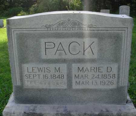 PACK, LEWIS M. - Benton County, Arkansas | LEWIS M. PACK - Arkansas Gravestone Photos