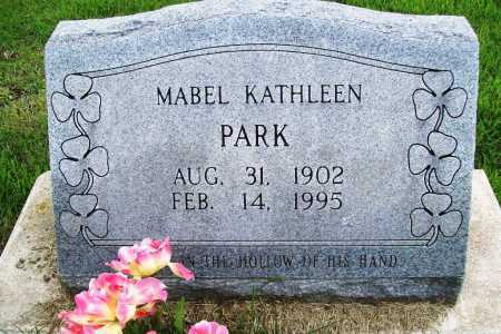 PARK, MABEL KATHLEEN - Benton County, Arkansas | MABEL KATHLEEN PARK - Arkansas Gravestone Photos