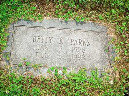 PARKS, BETTY K. - Benton County, Arkansas | BETTY K. PARKS - Arkansas Gravestone Photos