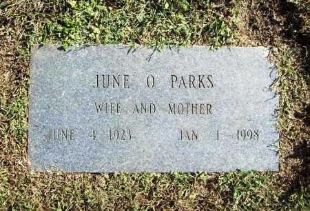 PARKS, JUNE O. - Benton County, Arkansas | JUNE O. PARKS - Arkansas Gravestone Photos