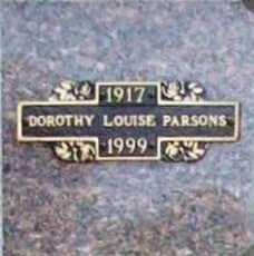 EVERSOLE PARSONS, DOROTHY LOUISE - Benton County, Arkansas | DOROTHY LOUISE EVERSOLE PARSONS - Arkansas Gravestone Photos