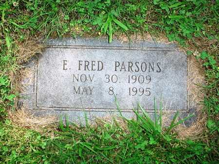 PARSONS, E. FRED - Benton County, Arkansas | E. FRED PARSONS - Arkansas Gravestone Photos