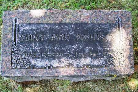 PATTERSON, SARAH ANNA - Benton County, Arkansas | SARAH ANNA PATTERSON - Arkansas Gravestone Photos