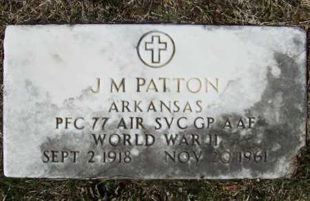 PATTON (VETERAN WWII), J M - Benton County, Arkansas   J M PATTON (VETERAN WWII) - Arkansas Gravestone Photos