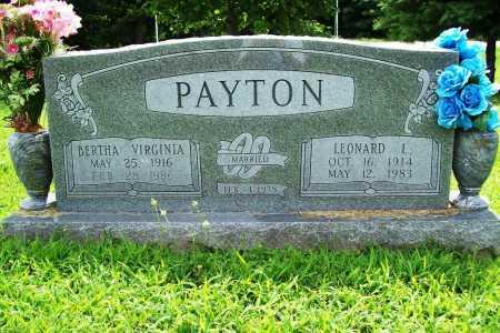 PAYTON, BERTHA VIRGINIA - Benton County, Arkansas   BERTHA VIRGINIA PAYTON - Arkansas Gravestone Photos