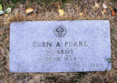 PEARL (VETERAN WWI), GLEN A - Benton County, Arkansas | GLEN A PEARL (VETERAN WWI) - Arkansas Gravestone Photos