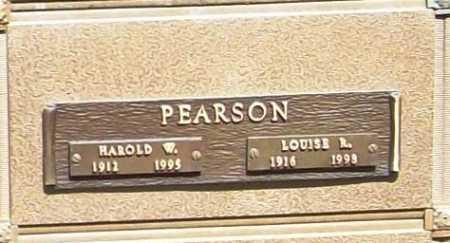 PEARSON, HAROLD W. - Benton County, Arkansas | HAROLD W. PEARSON - Arkansas Gravestone Photos
