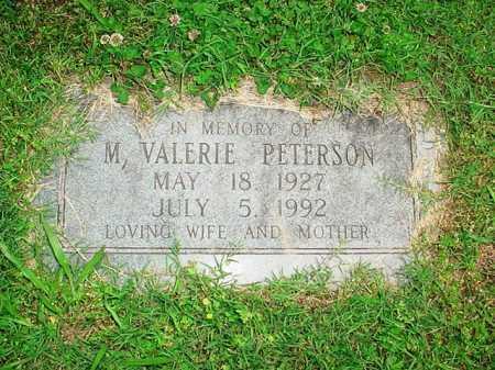 PETERSON, M. VALERIE - Benton County, Arkansas   M. VALERIE PETERSON - Arkansas Gravestone Photos