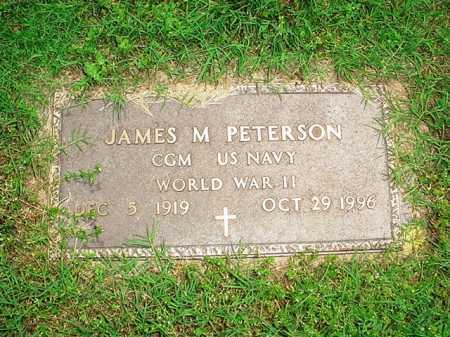 PETERSON (VETERAN WWII), JAMES M. - Benton County, Arkansas | JAMES M. PETERSON (VETERAN WWII) - Arkansas Gravestone Photos