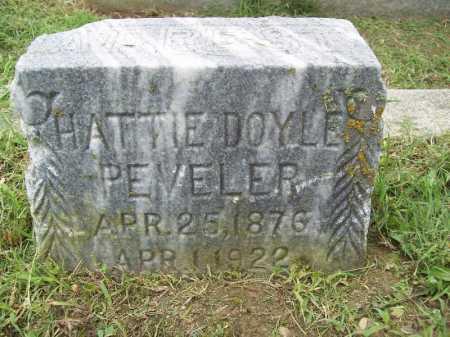 DOYLE PEVELER, HATTIE - Benton County, Arkansas | HATTIE DOYLE PEVELER - Arkansas Gravestone Photos