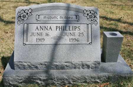 PHILLIPS, ANNA - Benton County, Arkansas | ANNA PHILLIPS - Arkansas Gravestone Photos