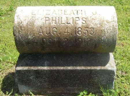 PHILLIPS, ELIZABETH J. - Benton County, Arkansas   ELIZABETH J. PHILLIPS - Arkansas Gravestone Photos