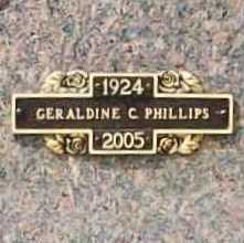 PHILLIPS, GERALDINE C. - Benton County, Arkansas | GERALDINE C. PHILLIPS - Arkansas Gravestone Photos