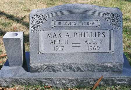 PHILLIPS, MAX A. - Benton County, Arkansas | MAX A. PHILLIPS - Arkansas Gravestone Photos