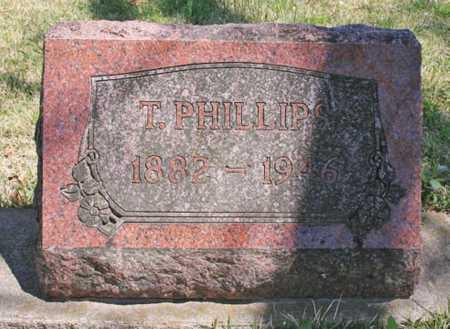 PHILLIPS, T. - Benton County, Arkansas | T. PHILLIPS - Arkansas Gravestone Photos