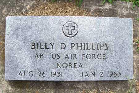 PHILLIPS (VETERAN KOR), BILLY D. - Benton County, Arkansas | BILLY D. PHILLIPS (VETERAN KOR) - Arkansas Gravestone Photos