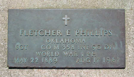 PHILLIPS (VETERAN WWI), FLETCHER E - Benton County, Arkansas | FLETCHER E PHILLIPS (VETERAN WWI) - Arkansas Gravestone Photos