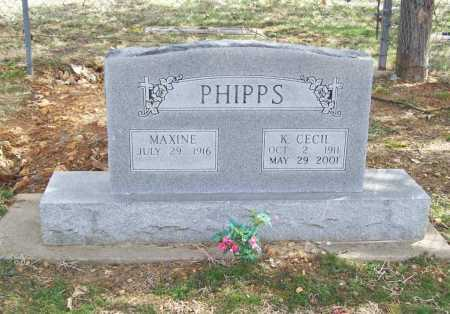 PHIPPS, MAXINE L. - Benton County, Arkansas | MAXINE L. PHIPPS - Arkansas Gravestone Photos