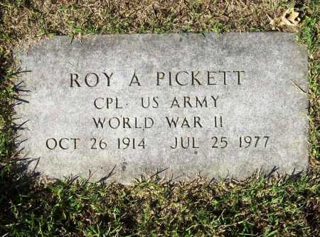 PICKETT (VETERAN WWII), ROY A - Benton County, Arkansas   ROY A PICKETT (VETERAN WWII) - Arkansas Gravestone Photos